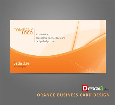 Best Resume Font Style by Orange Business Card Design Design3edge Com