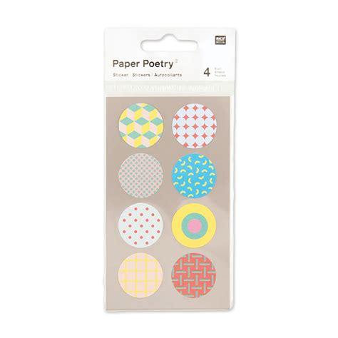 Aufkleber Rund 25mm aufkleber paper poetry rund 25 mm bunt x32 perles co