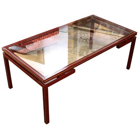 Gold Table L Vandel Lacquered With Gold Trim Coffee Table At 1stdibs