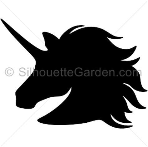 printable unicorn head stencil unicorn head silhouette clip art download free versions