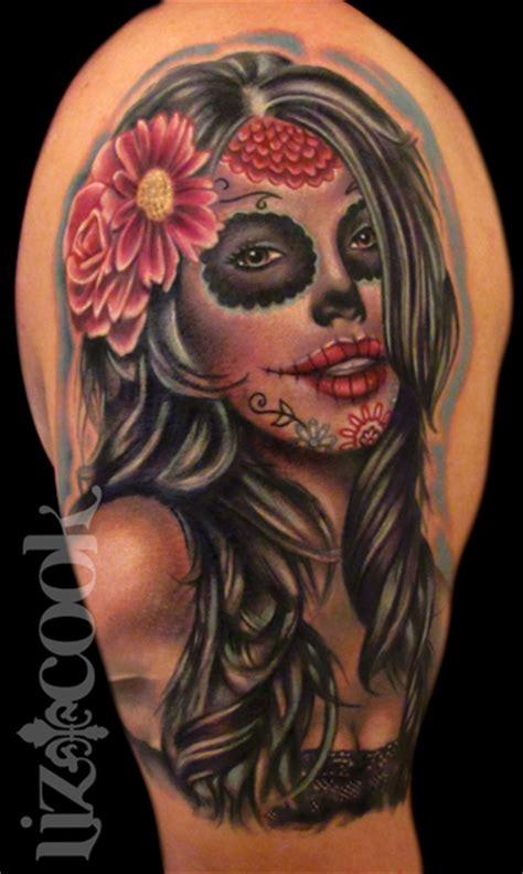 dia de muertos tattoo dia de los muertos by lizcooktattoo on deviantart
