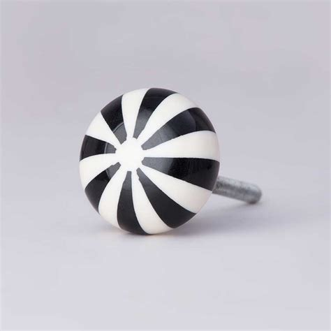 Black And White Knobs by Humbug Stripy Door Knob Black And White Knobs Homeware