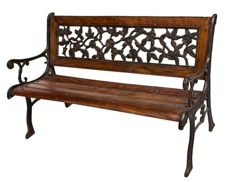 open bench teakwood wrought iron open arm garden bench holiday