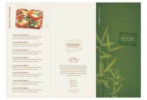 Asian Menu Template by Asian Restaurant Print Template Pack From Serif
