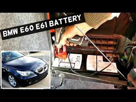 bmw 5 series e60 battery cable recall how to diy bmtroubleu