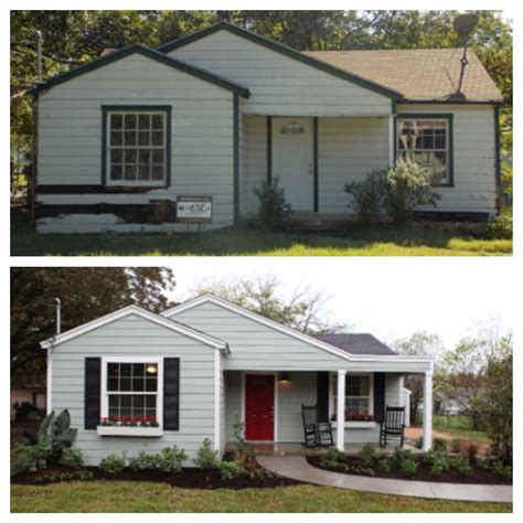 fixer upper after before after fixer upper my hgtv pinterest curb