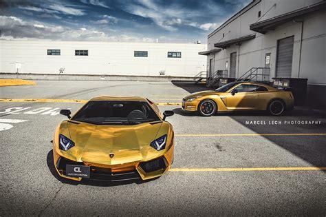 Chrome Lamborghini Aventador Chrome Gold Lamborghini Aventador By Marcel Lech