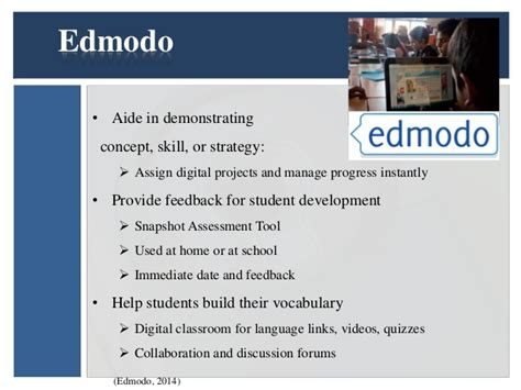 edmodo snapshot tutorial wk4 technology integration for siop
