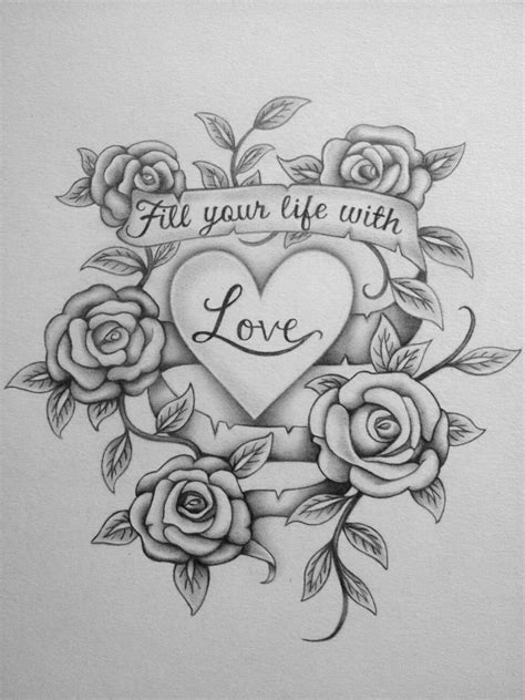 tattoo love coloring pages love tattoo by shell31 on deviantart