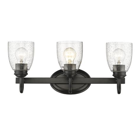 golden lighting parrish 5 light golden lighting parrish black three light bath vanity with seeded glass on sale