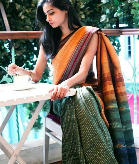 Different Is Beautiful Blouse Handloom Cotton Saree Usually Not A Fan Of These Half And