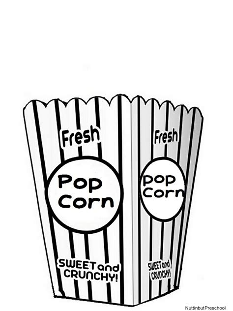 popcorn coloring pages preschool popcorn movie bucket art project nuttin but preschool