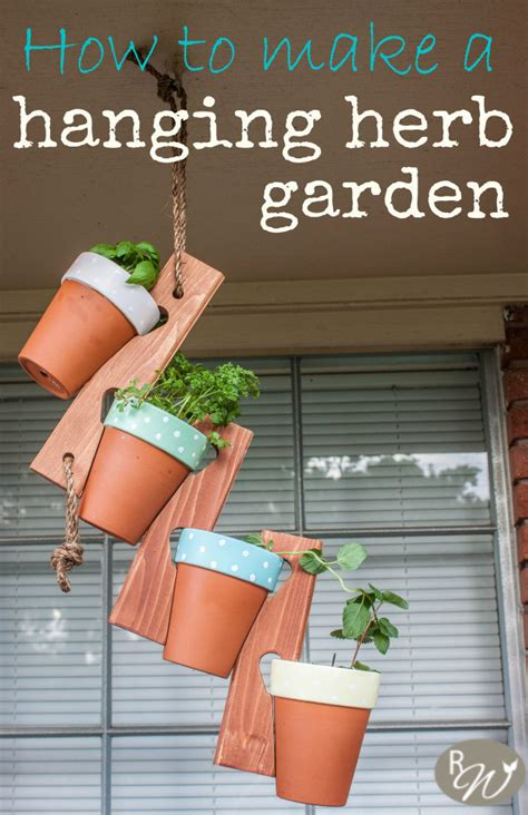 diy hanging herb garden diy hanging herb garden 183 how to make a hanging planter