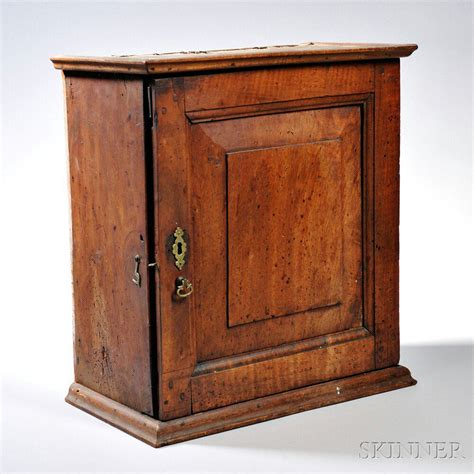 moulded cornice walnut spice cupboard late 18th century the molded