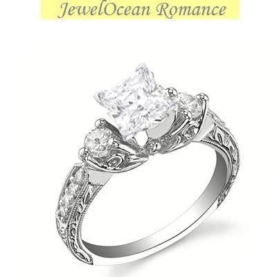 antique princess cut engagement ring closeout sale
