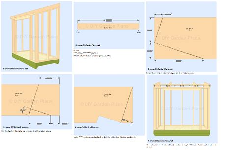 4 X 8 Garden Shed Plans by Small 4x8 Lean To Shed Plans For Storage Or Garden 4 Easy To Build Projects Ebay