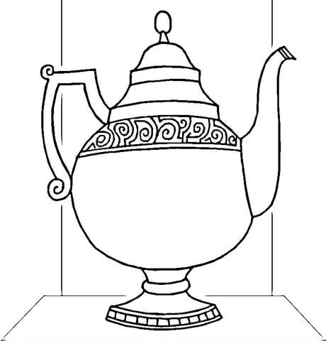 water pot coloring page kettle water coloring page coloring pages