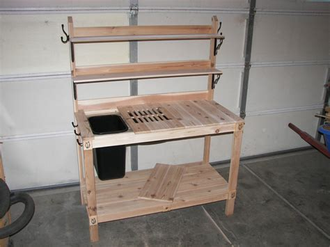 potting bench by greatwhite144 lumberjocks com woodworking community
