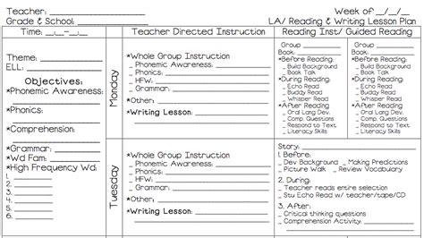 First Grade Lesson Plan Template Search Results Calendar 2015 1st Grade Lesson Plan Template