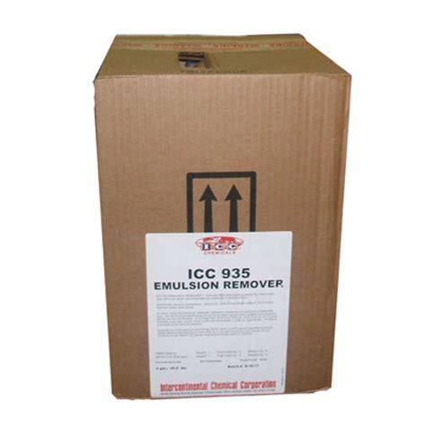 icc chemicals icc 935 emulsion remover (5 gallon) #209357
