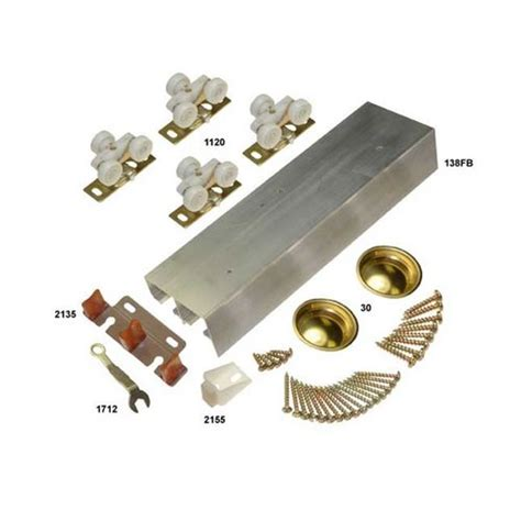 Johnson Hardware 138f Series Bypass Track Hardware Set Bypass Cabinet Door Hardware