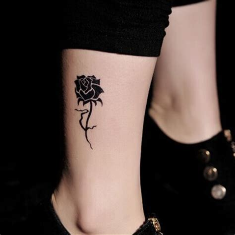 black rose tattoo on leg 30 black designs images and picture ideas