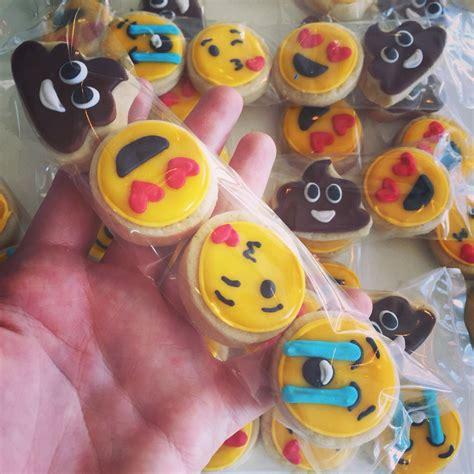 cookie emoji mini emoji cookie 4 packs by hayleycakes and cookies