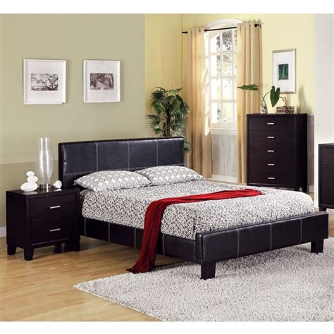 espresso queen bedroom set furniture of america sentrium 4 piece queen bedroom set in