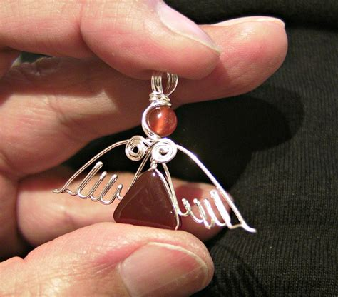 How To Make Jewelry Out Of Wire - diy angel pendant ii how to make a silver wire wrapped gemstone pendant youtube