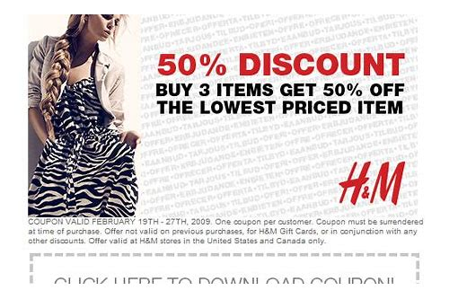 h&m coupon codes 2018