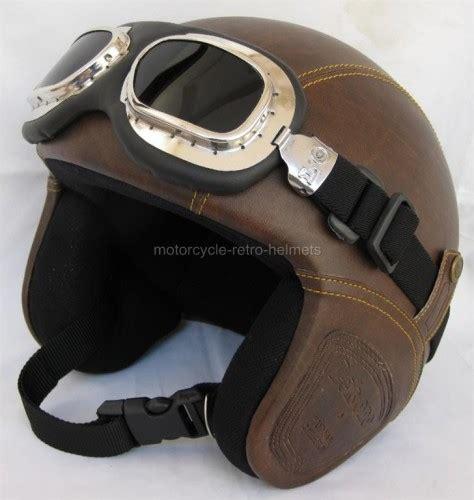 Helm Retro Helm Classic Helm Superbasic Matte Brown motorcycle helmet vespa oldtimer retro leather style