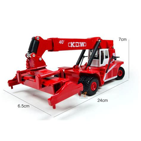 1 20 Scale Diecast Forklift Truck Construction Vehicle Cars Model Toys kdw 1 50 scale diecast reach stacker truck construction