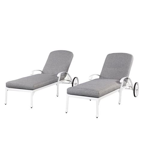 all weather chaise lounge chairs home styles floral blossom white all weather chaise lounge