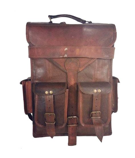 Backpack Handmade - digital rajasthan genuine leather handmade backpack