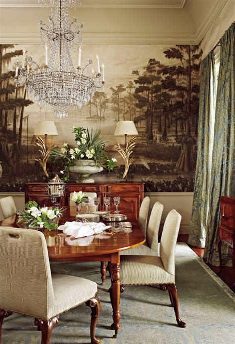 Dining Room Murals Ad Designfile Home Decorating Photos Architectural Digest