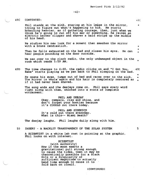 groundhog day screenplay groundhog day screenplay by danny rubin for educational