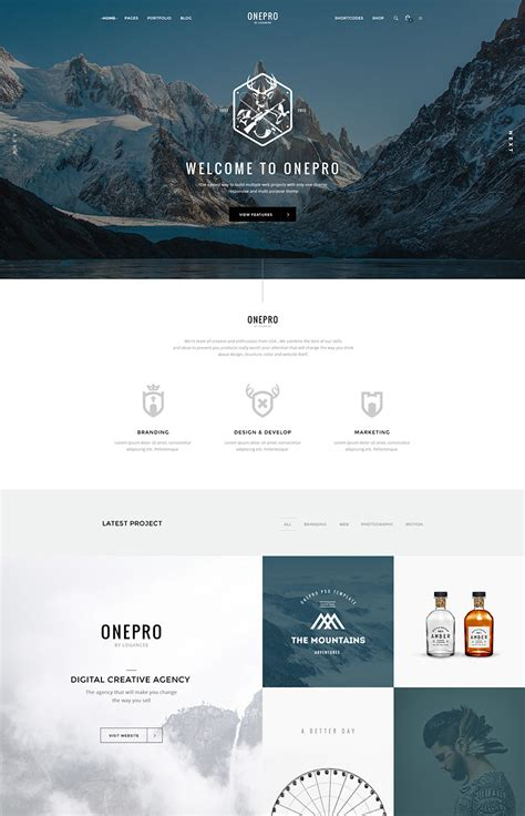The Best Photoshop Psd Website Templates Of 2016 Site Template
