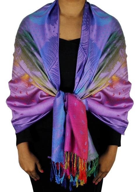 Pashmina Rainbow rainbow color pashmina wholesale
