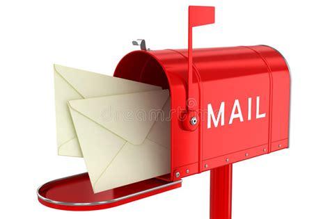 cassetta delle lettere lettere in una cassetta delle lettere aperta illustrazione