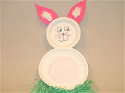 Easter Bunny Paper Plate Craft - paper plate easter bunny and other activities