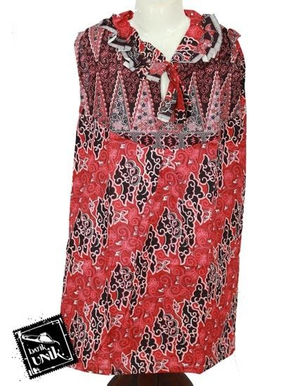 Dress Batik Erika baju batik anak erika motif mega mendung tumpal size xl