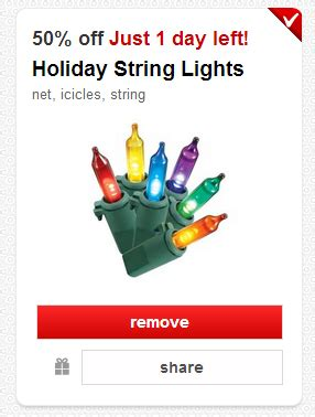 new target cartwheel coupons 50 off holiday lights or