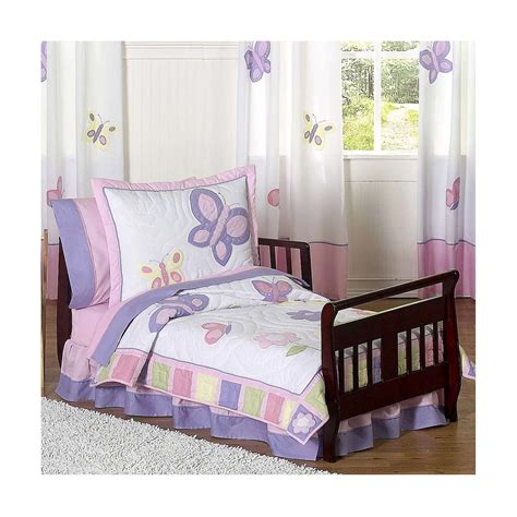 White Toddler Bedding Set Wooden Sleigh Toddler Bed With Butterfly Purple White Bedding Set Of Gorgeous Purple Toddler