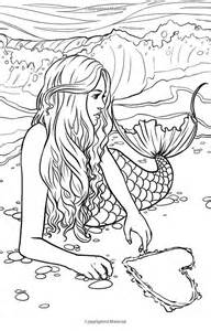 mermaid colouring pages for adults detailed coloring sheets 8 colors