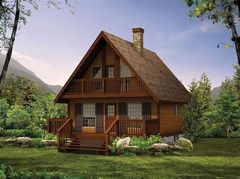 Two Story Cabin Plans by Plan 032h 0005 Find Unique House Plans Home Plans And