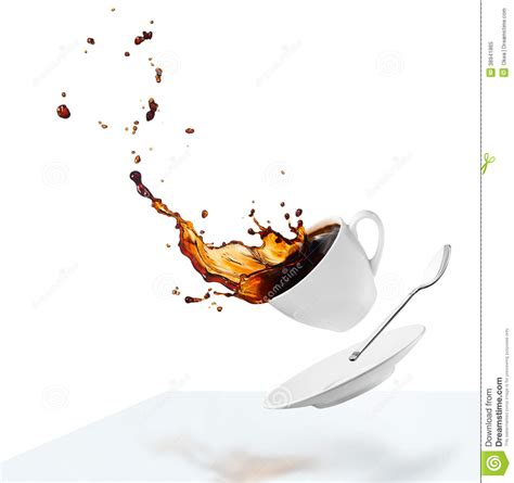 Spilling Coffee Stock Photo   Image: 38941865