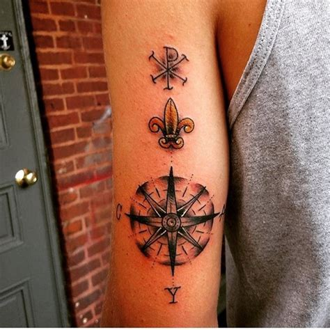 compass tattoo back of arm 90 artistic and eye catching compass tattoo designs