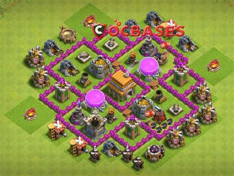 coc map layout th6 top 20 best th6 farming defense base layouts 2018 new