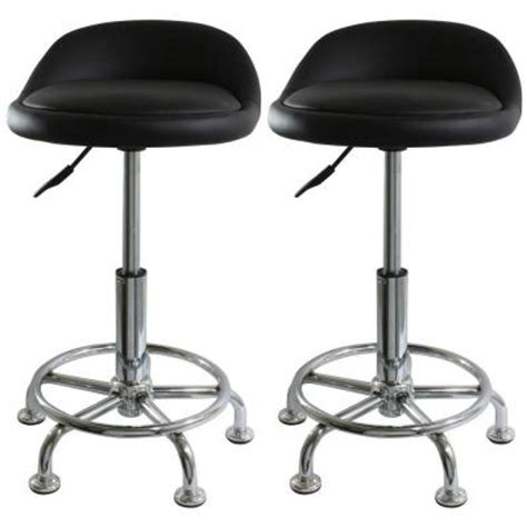amerihome black padded adjustable bar stool shop stool