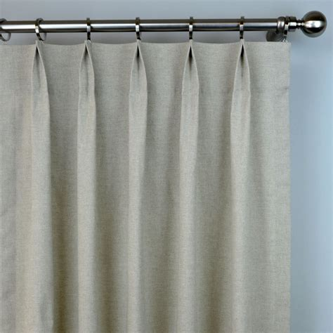 pinch pleat linen curtains plain natural oatmeal linen solid curtains pinch pleat 84
